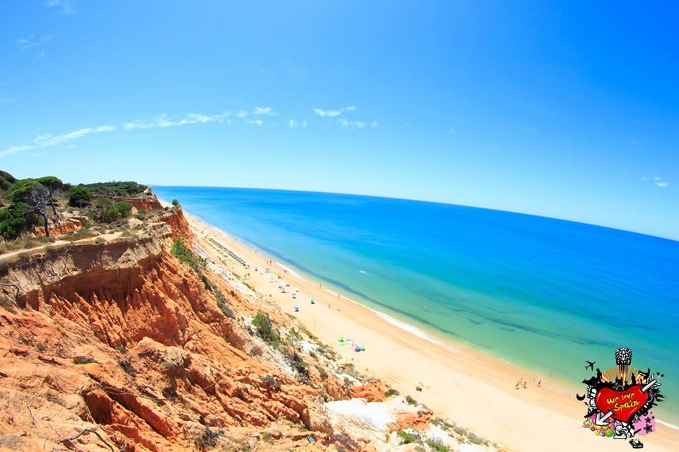 Views of the beautiful cliffs of Falesia Beach