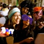 international students having fun at Cadiz Carnival Day Trip