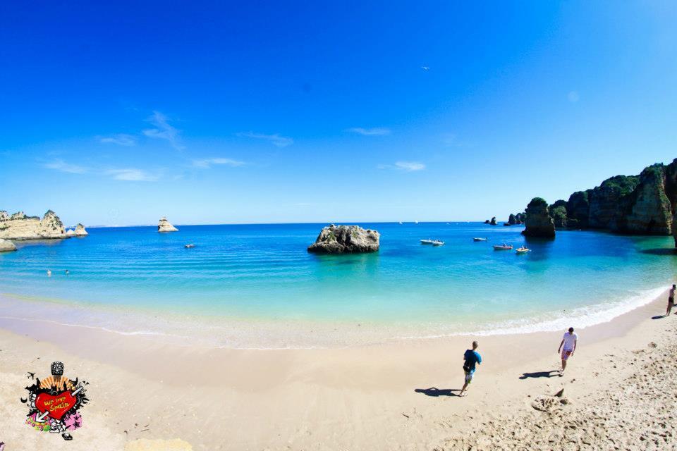 Dona Ana Beach on the Portugal Weekend Trip